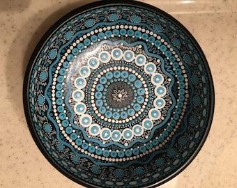 Teak Blue bowl #6
