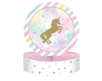 Unicorn Table Centerpieces - Unicorn Table Decor - Unicorn Table Decorations - Table Top - Table Tent - Table Signs - Unicorn Birthday Party