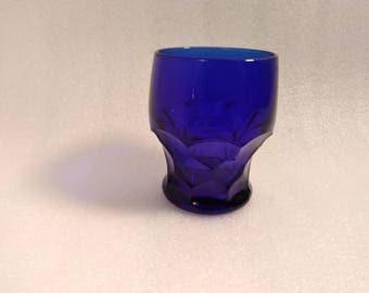 Vintage Cobalt Blue Juice Glass