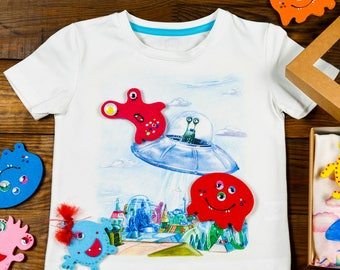Interactive T-shirt UFO