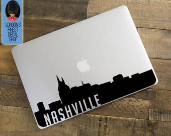 Nashville City Skyline Macbook / Laptop Decal