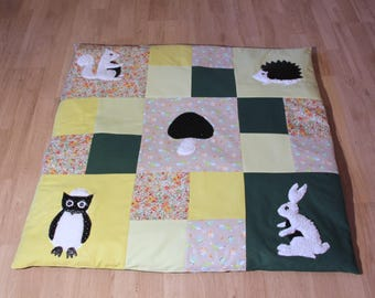 educational games theme rug carpet forest animals
