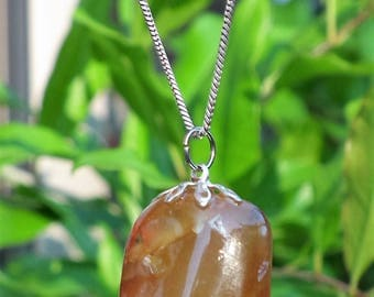 Baltic amber with silverplated bail