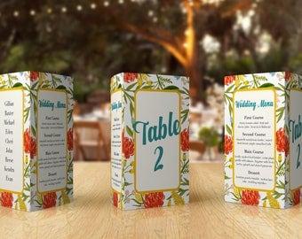 Wedding Menu Ideas - Wedding Place Cards - Script Table Number - Wedding Menu Card - Table Numbers - Wedding Menu Ideas - Table Number Ideas