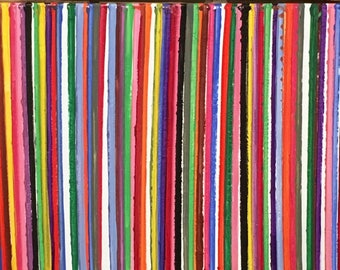 Abstract art stripes color canvas art painting