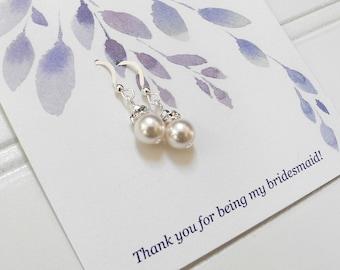 Set of 1, 2, 3, 4, 5, 6, 7, 8, 9, 10 Pearl Earrings, Swarovski Pearl Earrings, Bridesmaid Earrings, Single Pearl Earrings