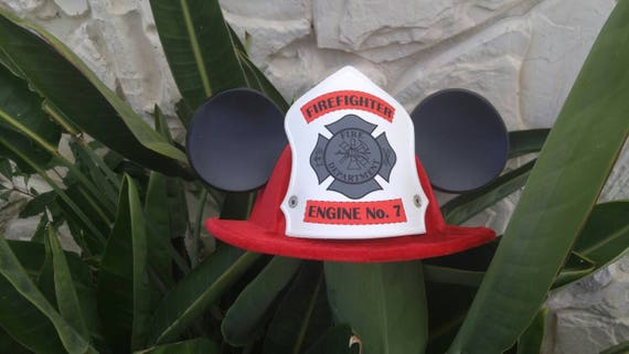 Firefighter Mickey. Firefighter hat. Mickey ears.