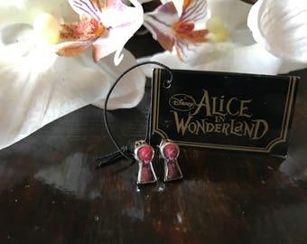 Keyhole Disney Alice in Wonderland earrings