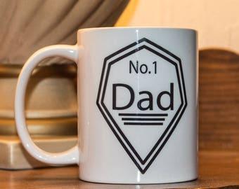 Personalised No.1 Dad Mug