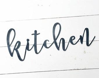 Kitchen Metal Sign - Metal Wall Art - Kitchen Sign - Metal Words - Farmhouse Kitchen Decor - Metal Signs - Housewarming Gift - Wedding Gift