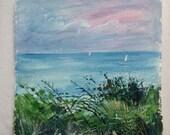 Cornish coastal art. Acry...