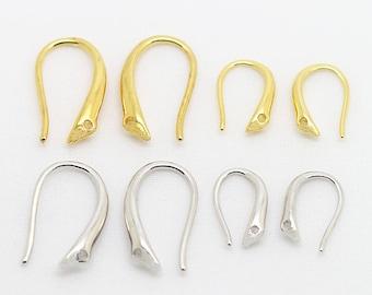10pairs 9*15MM Brass Earring Hooks Fish Hook Earrings Findings Ear Wires Nickel Free Earring Hooks Silver Earring Hooks Ear Ring Hooks