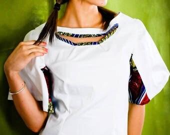 "short white dress and ethnic ""sevalie seam"""