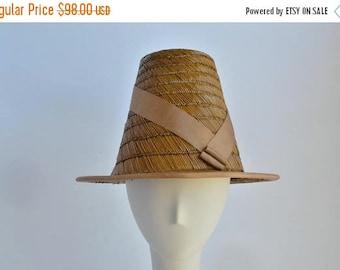 SALE Large/ Medium Matstick Brown Straw Raleigh Sun Hat