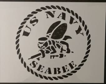 usa us United States Navy Seabee Seabees Custom Stencil FAST FREE SHIPPING