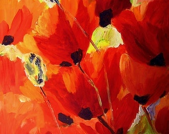 Canvas Painting Original Artwork, Painting, Flower Painting, Flower Wall Decor, Original Painting, Wall Decor Flowers Oil Painting Original