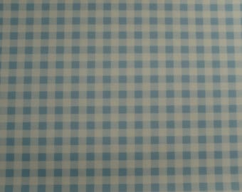 SCUBA FABRIC - Gingham Blue