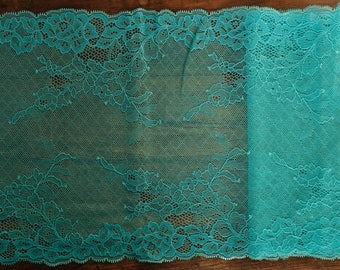 Stretch Lace - Turquoise Sparkly