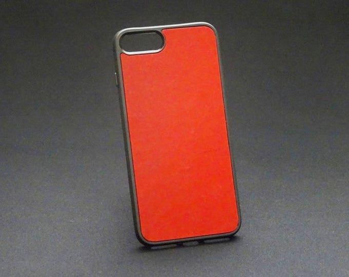 Apple iPhone 7+ Plus 8+ Plus - Jimmy Case in Red Tan - Kangaroo leather - Handmade - James Watson