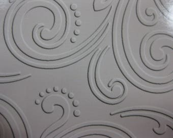 Intricate Swirls Embossed Blank Note Cards, Embossed Blank Cards, Embossed Blank Greeting Cards Set of 12