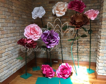 HIRE paper flowers ROSE PEONY freestanding paper flower/Wedding flower/birthday party /home styling/wedding centerpiece/window display
