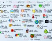 Useful Dates/Reminders  - set of 31 stickers perfect for Erin Condren Life Planner, Kikki K, Filofax, Plum Paper Planner and Happy Planner
