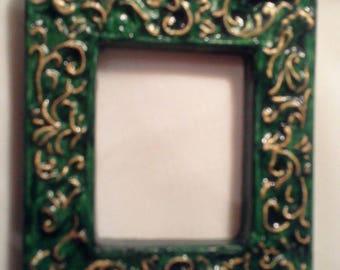 Mini frame bronze embellished gold - 9 011