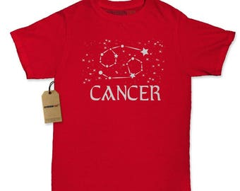 Cancer Zodiac Star Chart Womens T-shirt