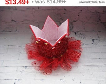 CHRISTMAS SALE Valentines day crown Red toddler tiara Birthday crown Best ideas gifts Glitter tiara Headbands for baby Fashion jewelry Gi...