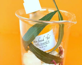 Oil Cleanser Camellia Dry Skin Rosacea Skin Cleanser natural Oils Makeup Remover, Organic Vegan 2 ounce pump bottle Luxury Cleansing Oil