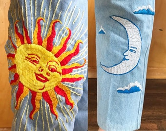 Vtg embroidered orange tab levis