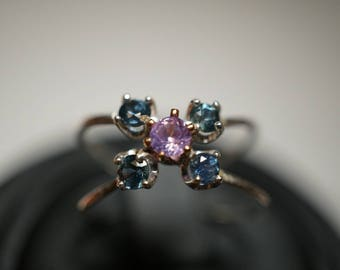 One of a Kind Montana sapphire Ring