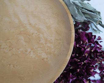 Birds Eye Maple Lathe Turned Plate Prince Edward Island Canada