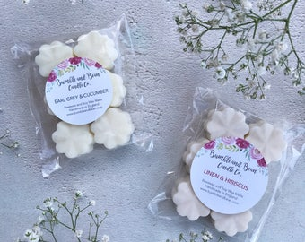 Clean, Fresh and Coastal Scented Wax Melts Flowers, Beeswax and Soy Flower Wax Melts (6 per pack)