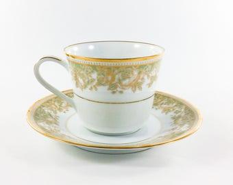 Noritake Lucerne Tea Cup and Saucer 8 Ounce