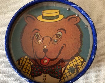 Vintage Bear Face Dexterity Game