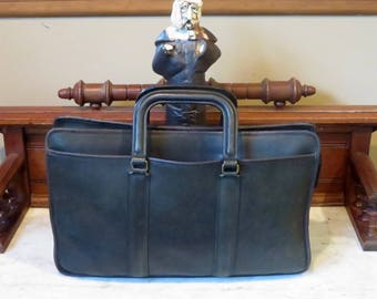 Spring Sale Coach Embassy Briefcase In Black Leather Made In The United States Style No 5090- VGC