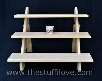 3 Tier Standard Portable Riser Craft fair Display Shelving Stand