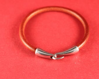 4/4 MADE in EUROPE zamak hook clasp, round cord clasp, 5mm cord clasp, bracelet zamak hook, zamak clasp (Ablz157S) Qty1