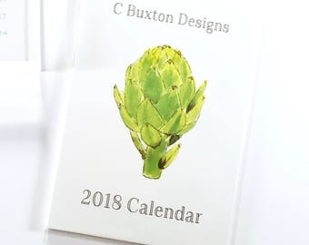 Desk Calendar 2018©, refill, with easel frame, with acrylic magnetic frame in gift box set