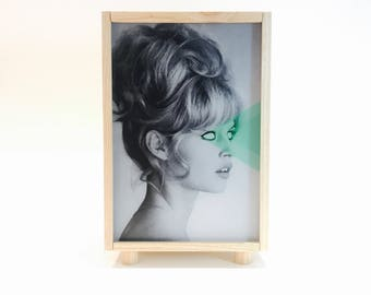 Lightbox, lightbox. Brigite bardot, wooden lamp. Collage, #Bardot