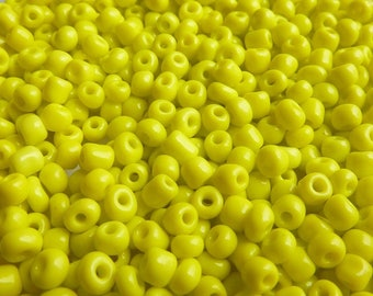 40 g/600pcs yellow 4mm seed beads