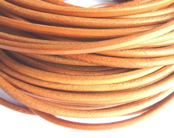 1 m leather cord 4 mm natural PR01200