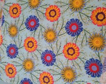 colorful 20 x 140 cm flower pattern cotton fabric