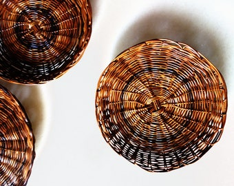 Native plates woven by hand by Boholanos  made of rattan wicker