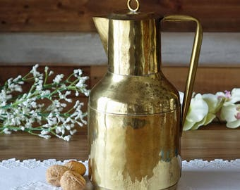 Vintage water brass pitcher - Handmade pitcher - by  De Marco,  Dinant
