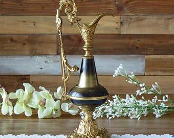 Vintage brass decorative urn - Candlestick