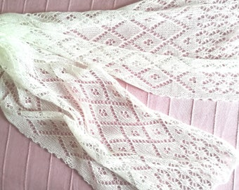 White lace scarf / ivory lace scarf / wedding scarf / summer scarf