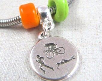 Charm's Triathlon bracelet - 925 Silver finish