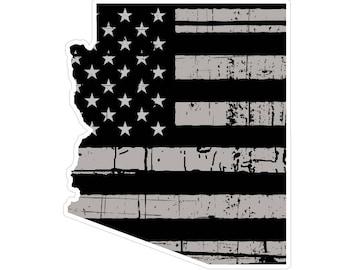 Arizona State (N5) Distressed Flag Vinyl Decal Sticker Car/Truck Laptop/Netbook Window